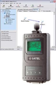 Modem och mjukvara: Satel NMS