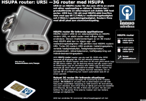 HSUPA router 3G router
